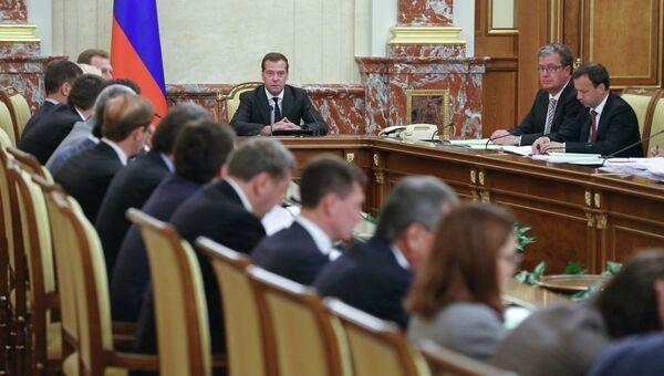 Д.Медведев провел заседание в Доме правительства РФ