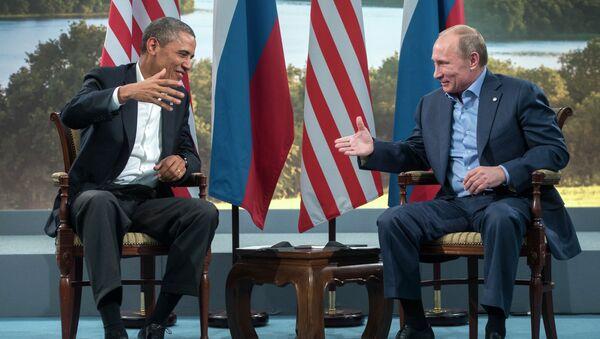 Президент России Владимир Путин и президент США Барак Обама. Архив