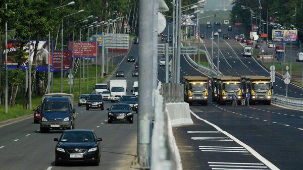 Эстакада на Рублевском шоссе