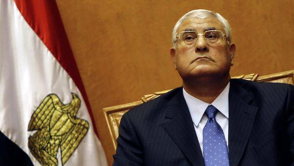 Ввременный глава Египта Адли Мансур, архивное фото