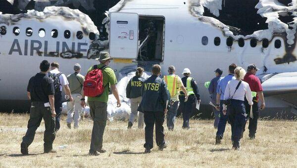 Последствия крушения Boeing-777 в аэропорту Сан-Франциско