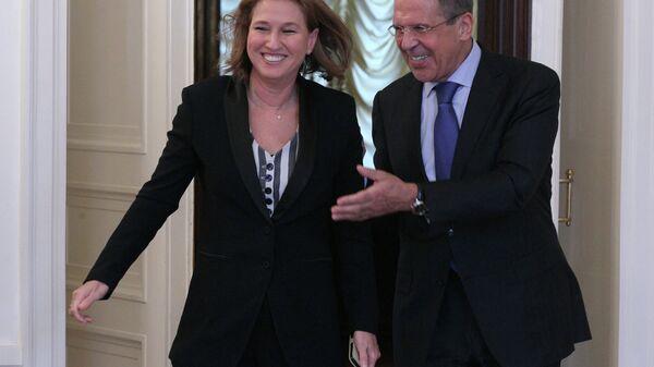 Министр иностранных дел Сергей Лавров и Ципи Ливни. Архивное фото