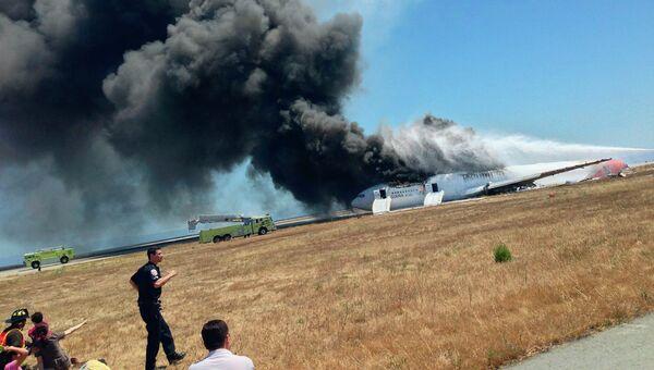Крушение Boeing-777 в аэропорту Сан-Франциско
