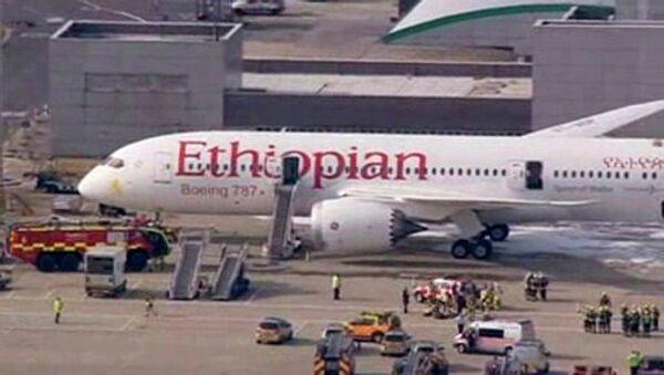 Пожар на борту Boeing Dreamliner в Хитроу