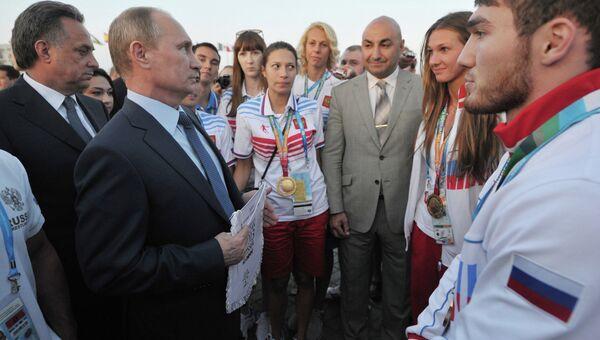 В.Путин посетил Казань