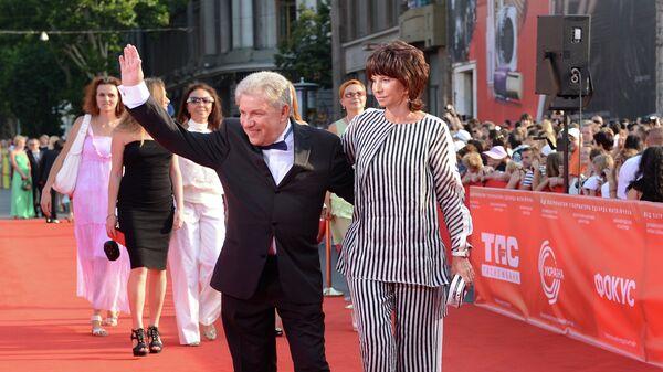 Олег Филимонов с супругой Ларисой на открытии Одесского международного кинофестиваля
