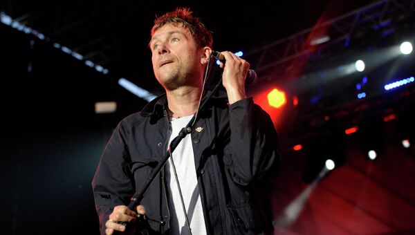 Солист британской рок-группы Blur Деймон Албарн на музыкальном фестивале Пикник Афиши