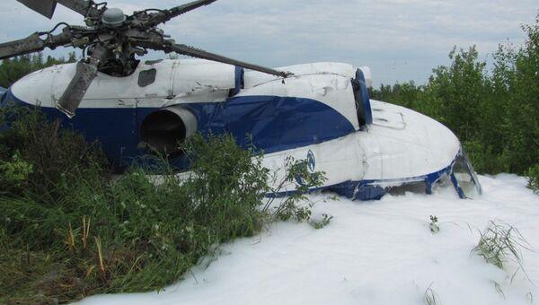 Авария вертолета МИ-8 в Томской области