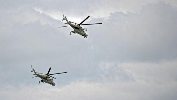Вертолеты Ми-24 . Архивное фото