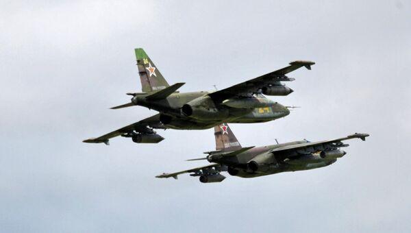Самолеты Су-25. Архивное фото