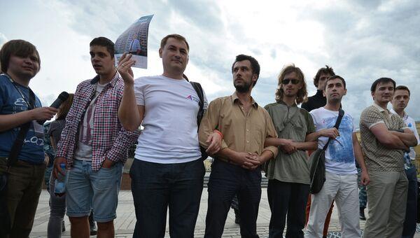 Акция сторонников Алексея Навального на Манежной площади