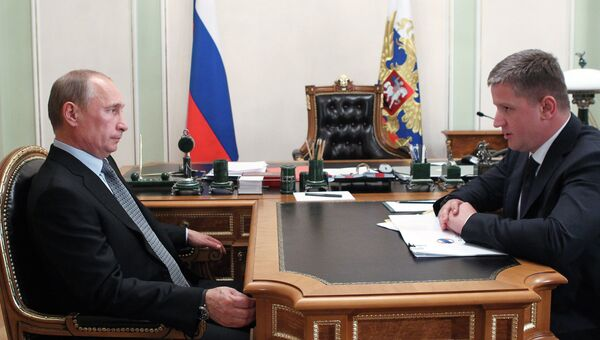 Встреча президента РФ Владимира Путина с Евгением Додом