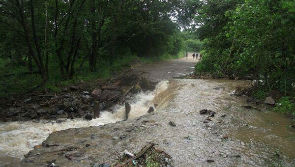 Наводнение в Тернейском районе Приморья