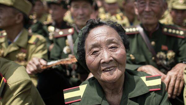 Празднование 60-й годовщины окончания Корейской войны. КНДР. Архивное фото