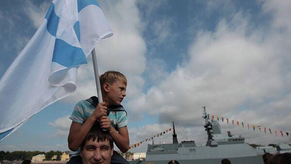 Празднование Дня ВМФ в Петербурге