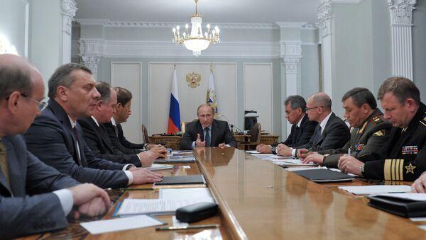 Президент РФ В.Путин провел совещание в Ново-Огарево