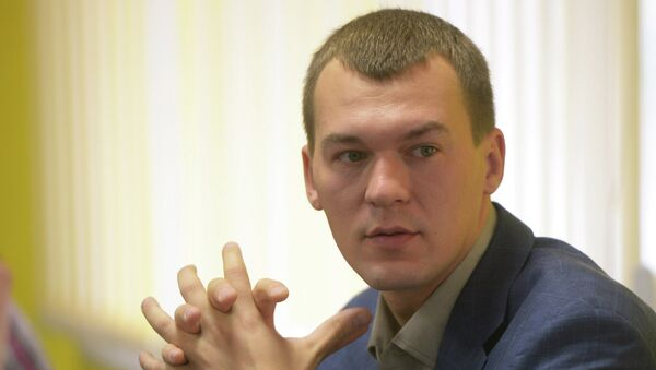 Кандидат в мэры Москвы М. Дегтярев в предвыборном штабе