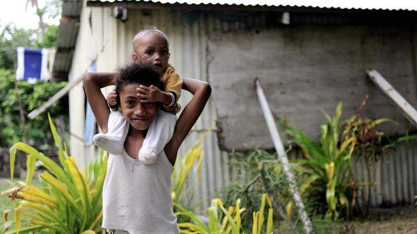Местные жители на Фиджи