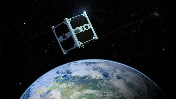 Эстонский спутник ESTCube-1. Архивное фото