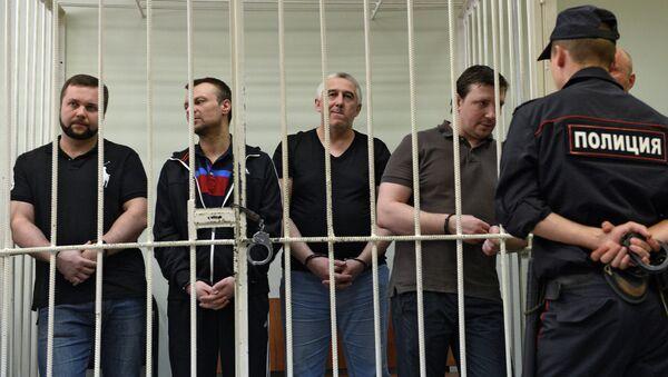 Оглашение приговора экс-полицейским Н.Дмитриевой и М.Каганскому