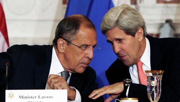 Сергей Лавров и Джон Керри