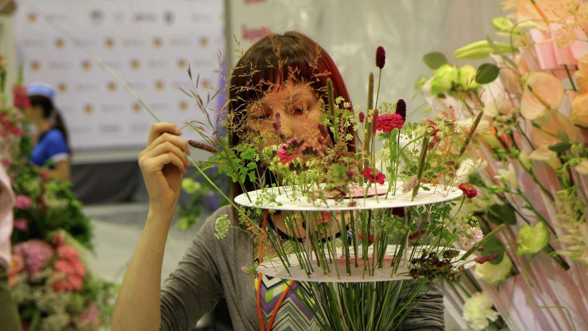 Выставка цветов в Новосибирске - РИА Новости, 1920, 24.07.2021