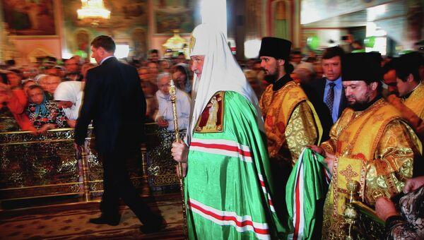 Патриарх Кирилл в Новосибирске