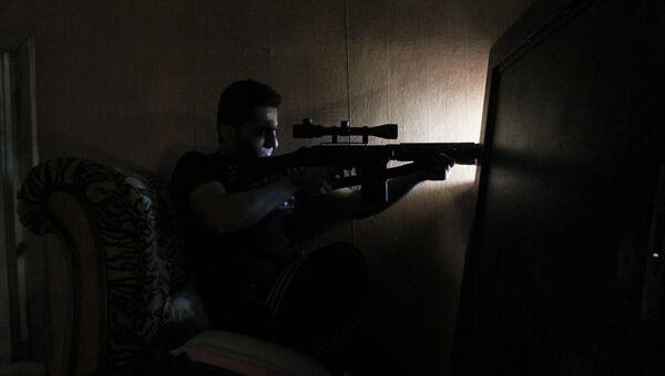 Снайпер Свободной Сирийской армии