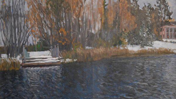Картина Первый снег Станислава Жуковского