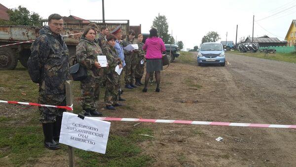 Учения по ликвидации очага бешенства в Томской области