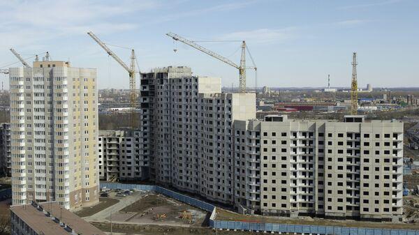 Строительство жилого комплекса по программе Доступное жилье. Архивное фото
