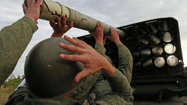 Учения артиллеристов. Архивное фото