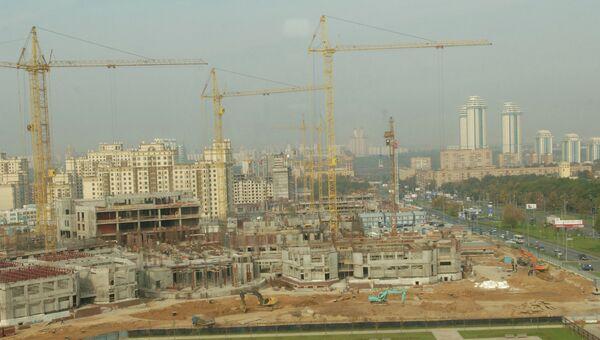 Строительство студенческого городка. Архивное фото