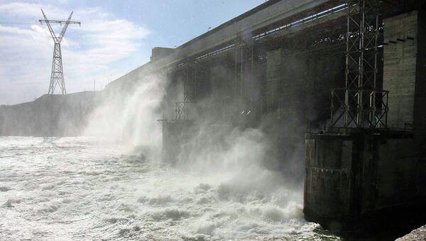 Новосибирская ГЭС, архивное фото