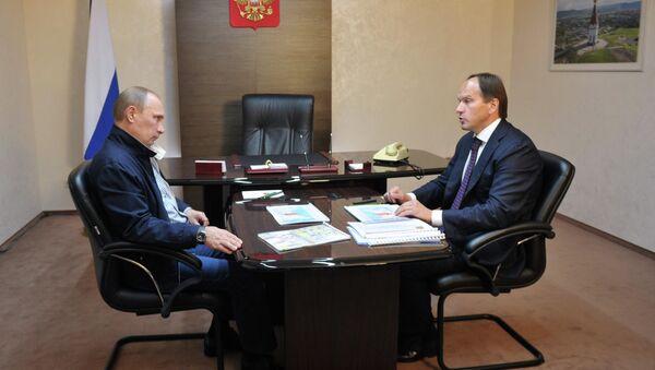 Путин провел встречу со Львом Кузнецовым в Красноярске