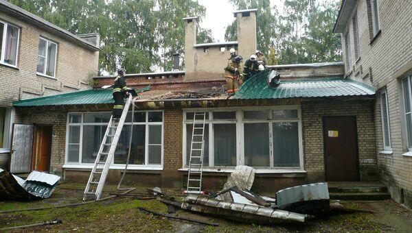 Пожар в детском саду в Подмосковье