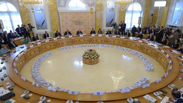 Заседание участников саммита Группы двадцати, архивное фото