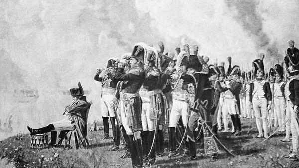 Картина В.Верещагина Наполеон на Бородинских высотах