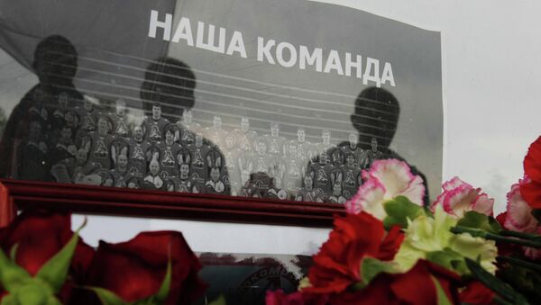 Акция памяти погибших хоккеистов ярославского Локомотива. Архивное фото