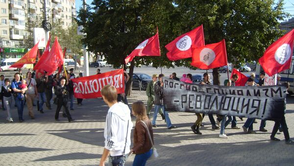 Марш Анитикапитализм-2013 в Новосибирске