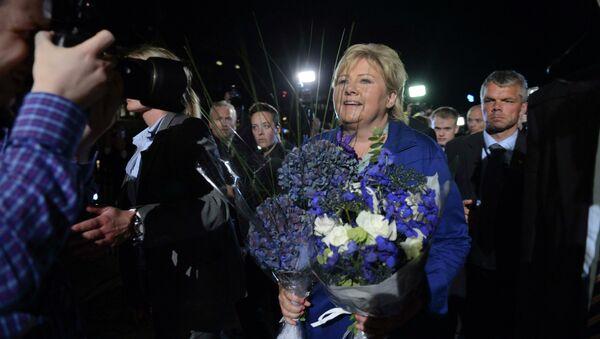Лидер Партии консерваторов Норвегии Эрна Солберг. Архивное фото