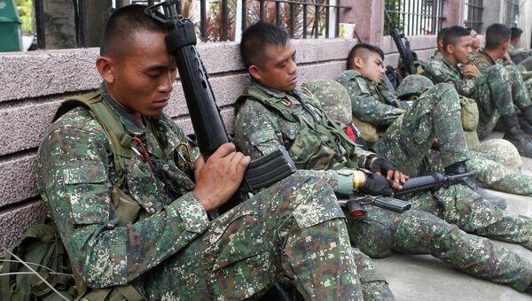 Филиппинские солдаты. Архивное фото