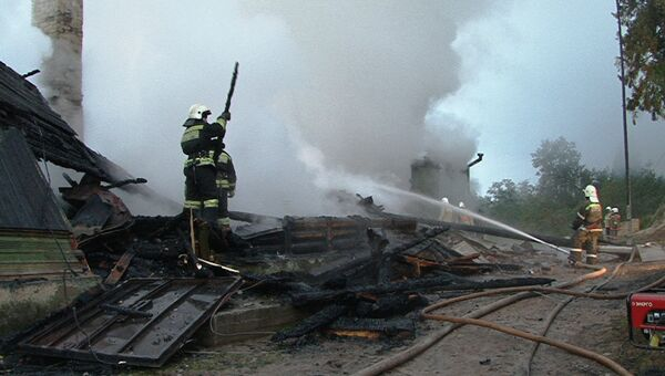 Пожар в интернате в Новгородской области