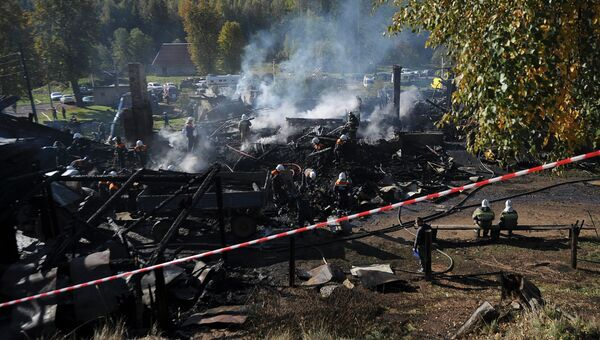 Пожар в интернате в Новгородской области. Архивное фото
