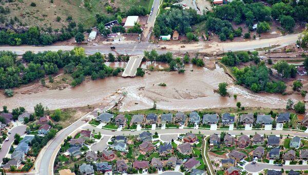 Наводнение в штате Колорадо в США
