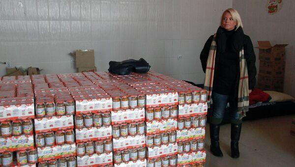 Яна Поплавская в Приамурье в качестве волонтера, фото с места события