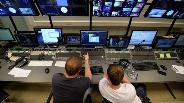 Комплекс телеканала Общественное телевидение России (ОТР) в телецентре Останкино. Архивное фото