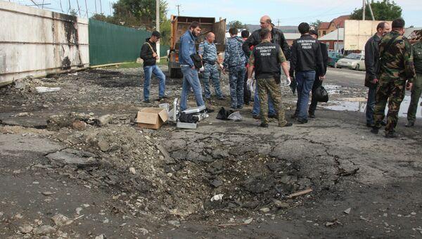 Взрыв у здания РОВД в Сунженском районе Чечни