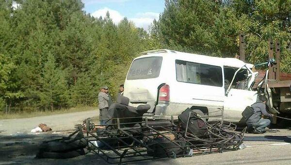 ДТП с маршруткой в Бурятии, архивное фото
