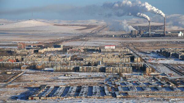 Вид на город Краснокаменск